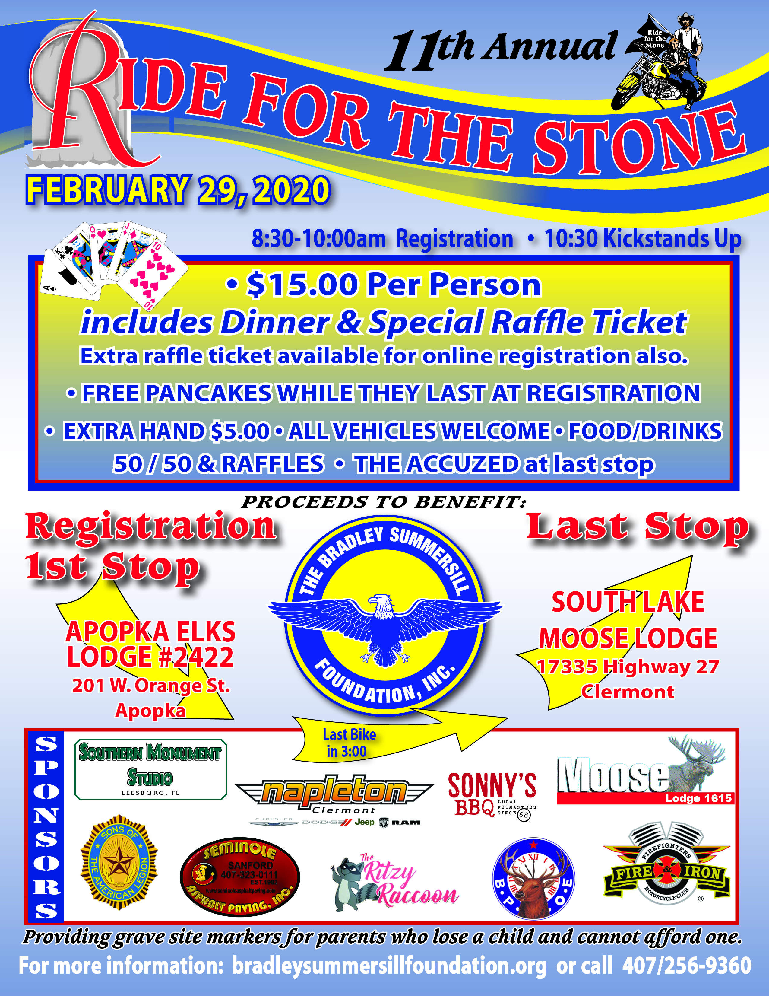 11th  Annual Ride for the Stone